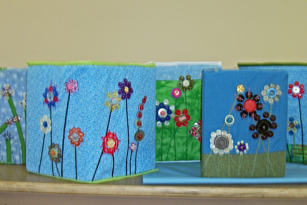 Turkey Tracks:  Notebook Covers and Fabric Boxes (2/6)