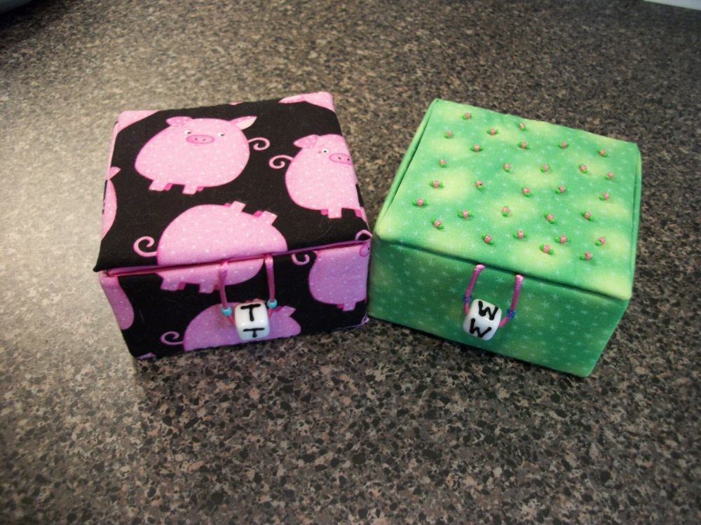 Turkey Tracks:  Notebook Covers and Fabric Boxes (5/6)