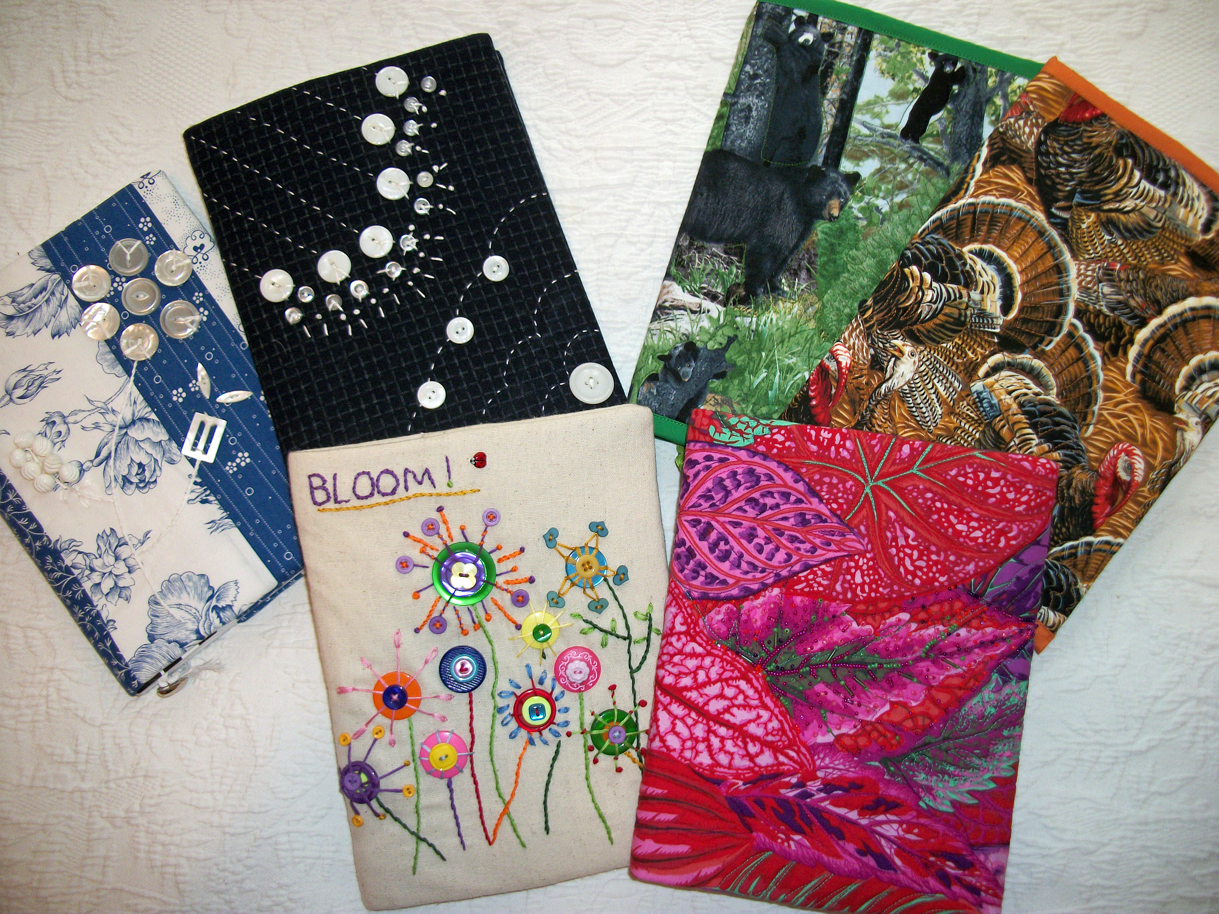 Book Cover Decoration Ideas ~ Turkey tracks notebook covers and fabric boxes louisa