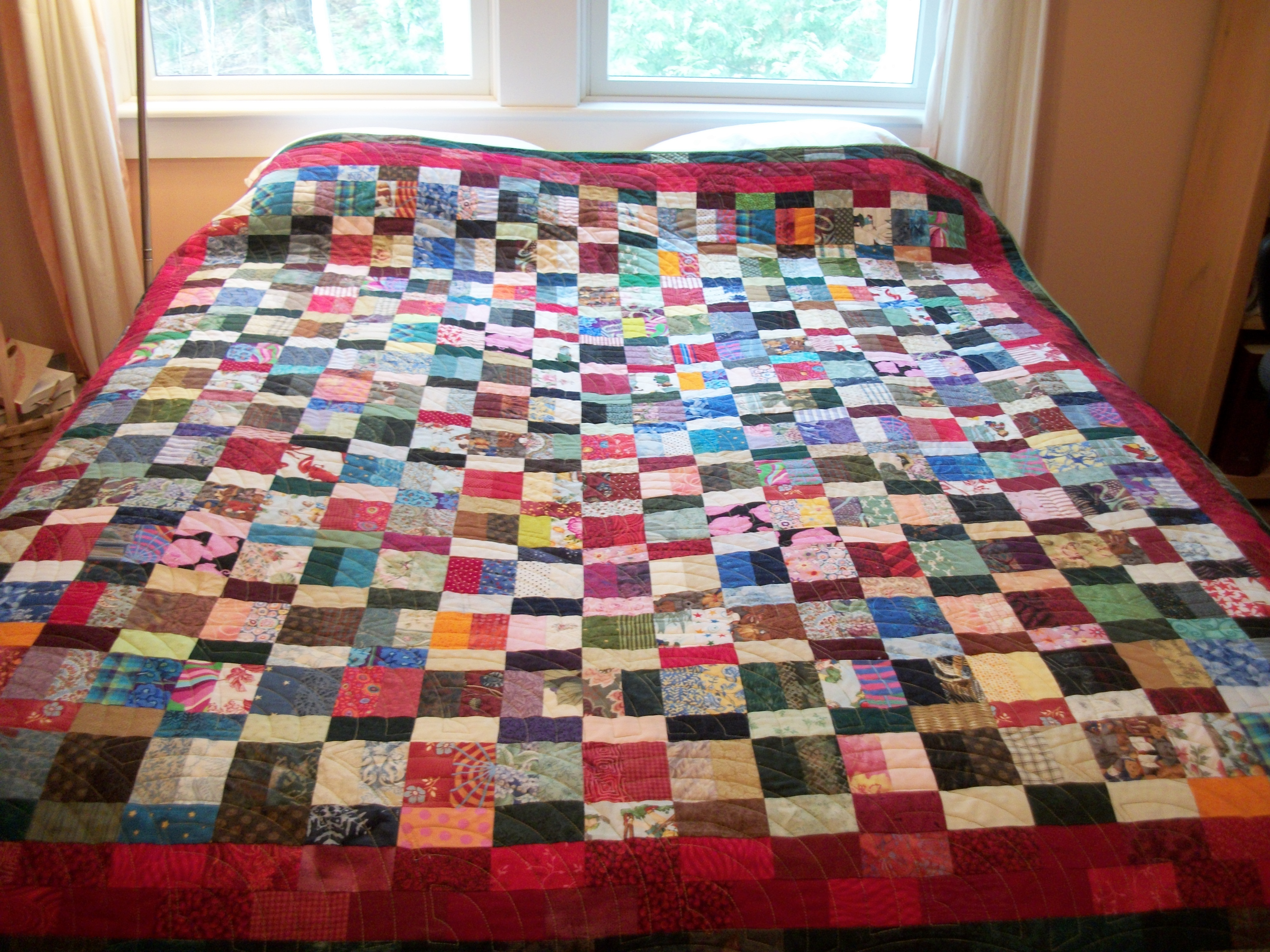 Successful scrap quilts from simple rectangles louisa for Scrap quilt