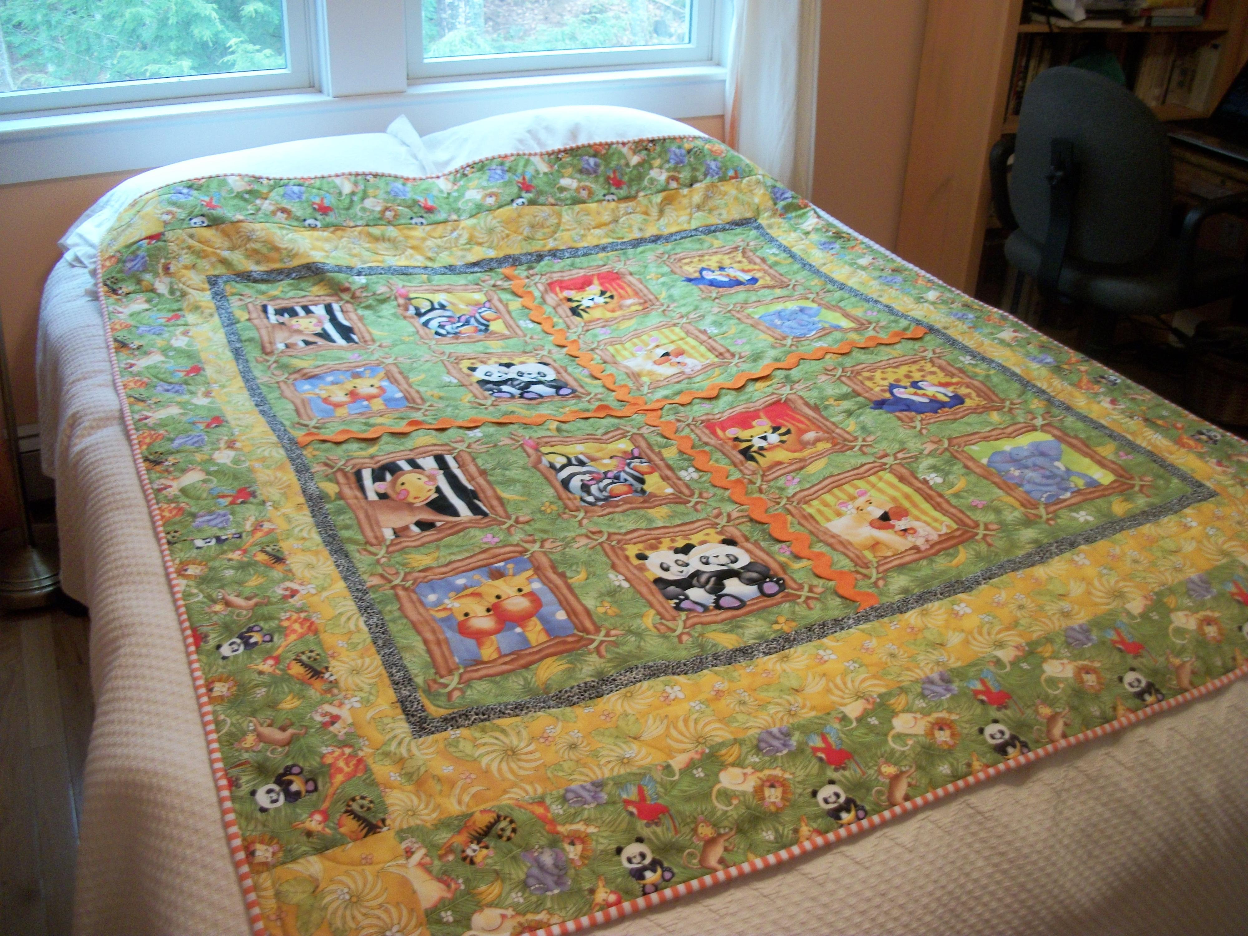 "Turkey Tracks: ""Julia's Jungle"" quilts   Louisa Enright's Blog : jungle quilt pattern - Adamdwight.com"