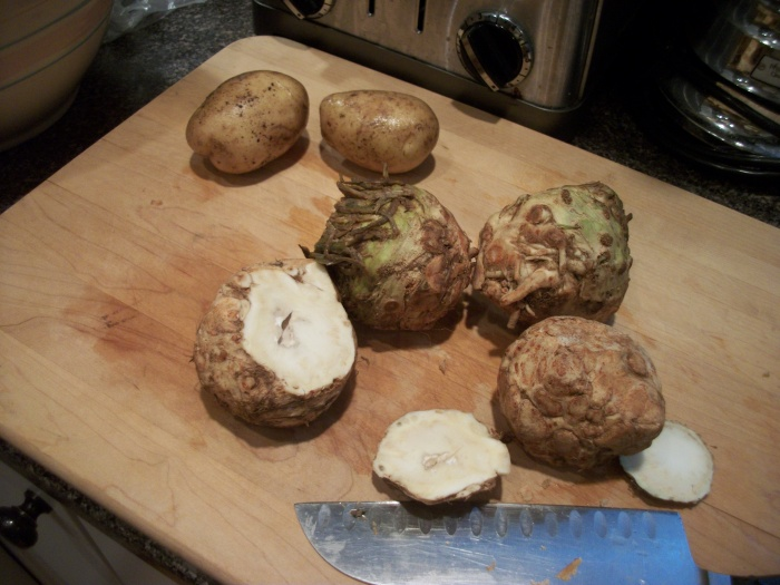 celeriac and potatoes
