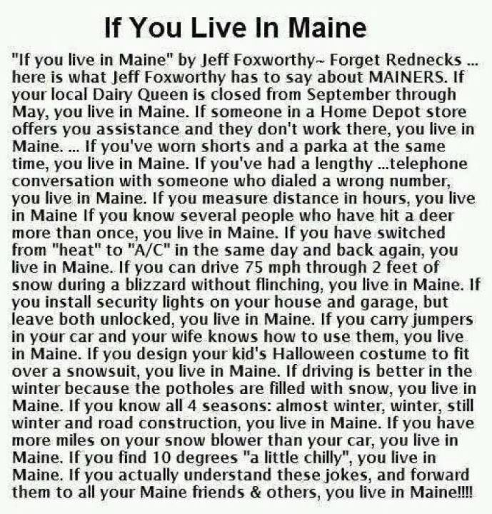 If you Live in Maine