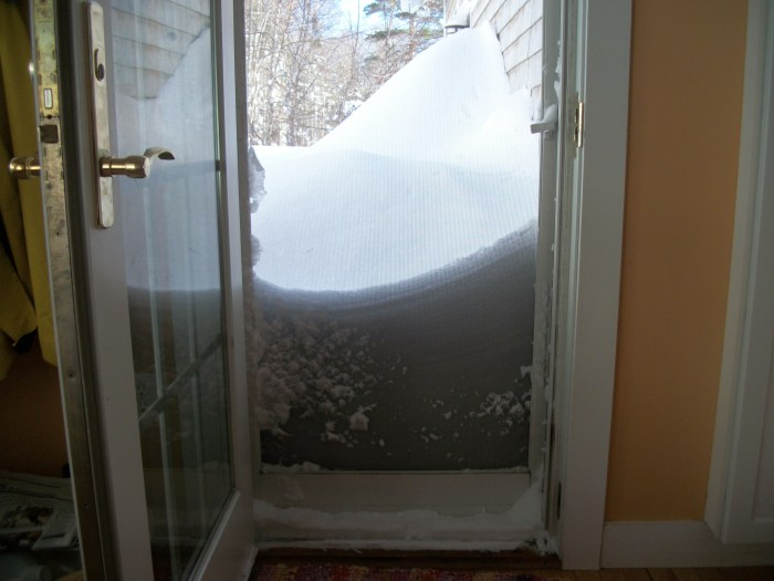 Blizzard of 2013, kitchen door