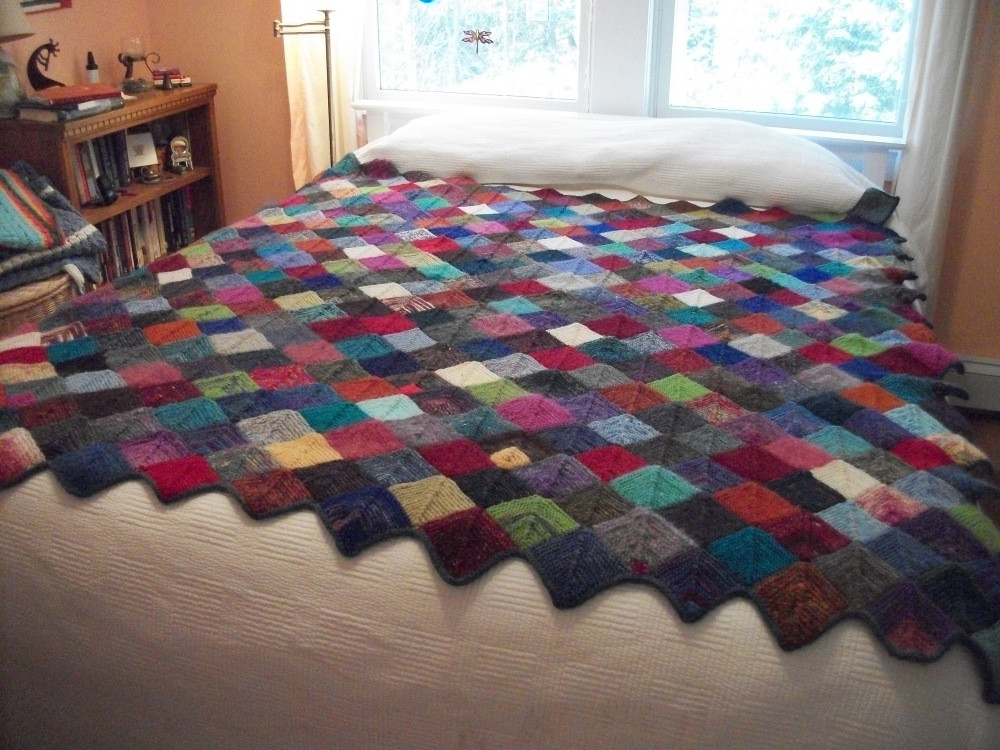 Turkey Tracks:  Knitted Quilt (1/3)