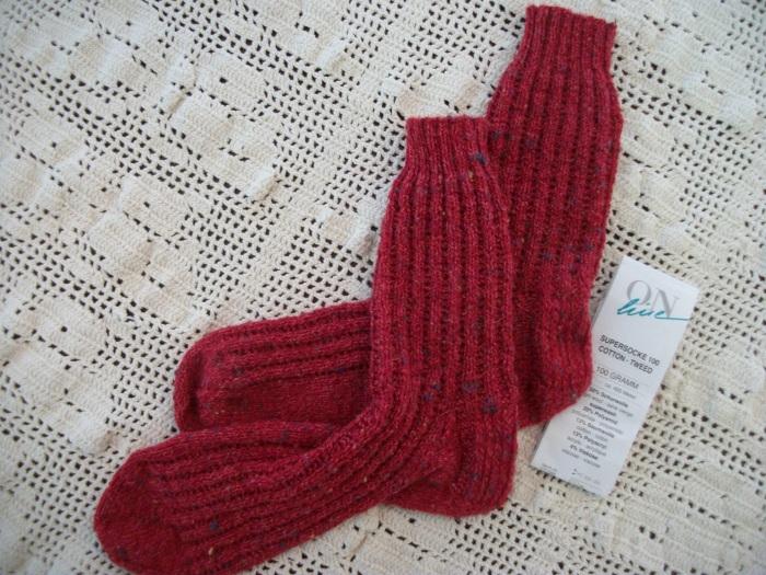 Nancy's red socks