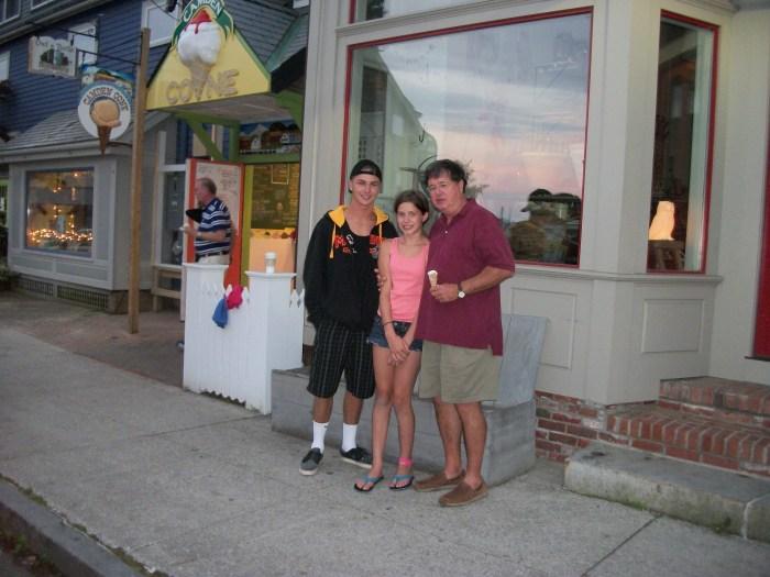 Greg and crew, ice cream