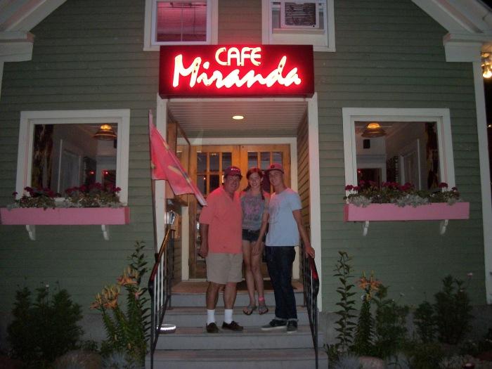 Greg's crew, Cafe Miranda