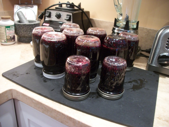 Blackberry jam, Aug. 2013