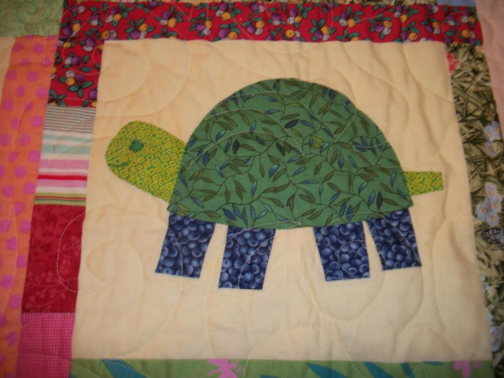Turkey Tracks:  Green Turtles Quilt (4/6)