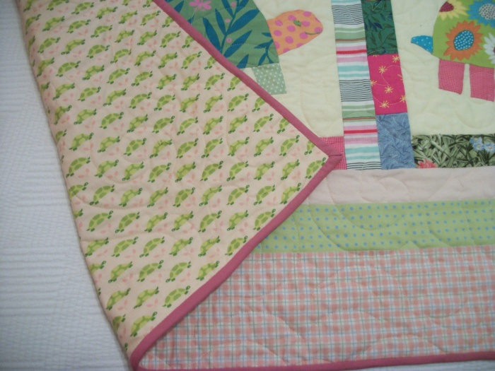 Green Turtles backing and binding