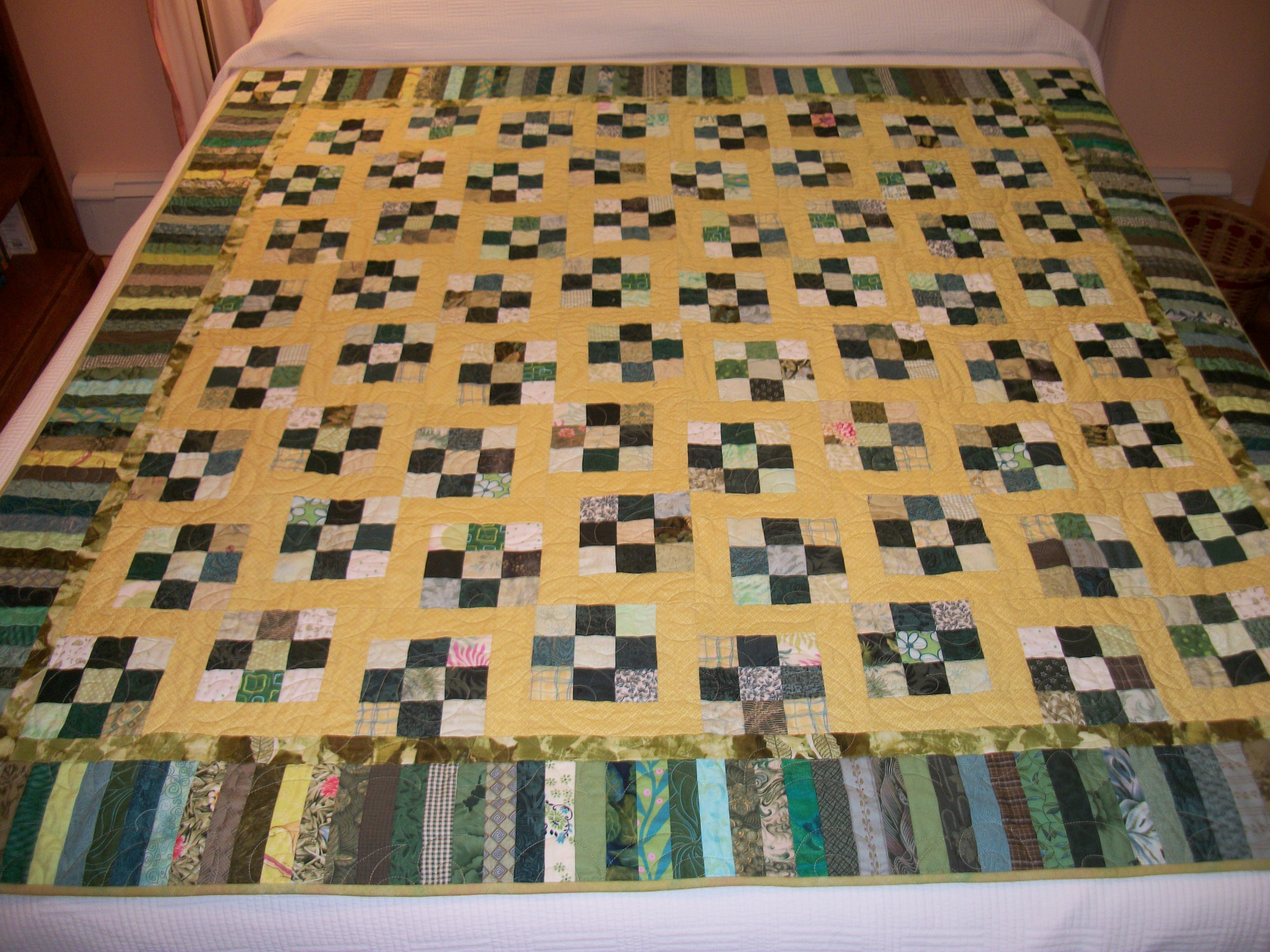 Sunshine and Shadows quilt | Louisa Enright's Blog : piano key quilt border - Adamdwight.com