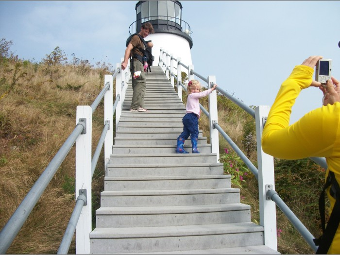 Sept 2013, Ailey at Owl's Head Lighthouse