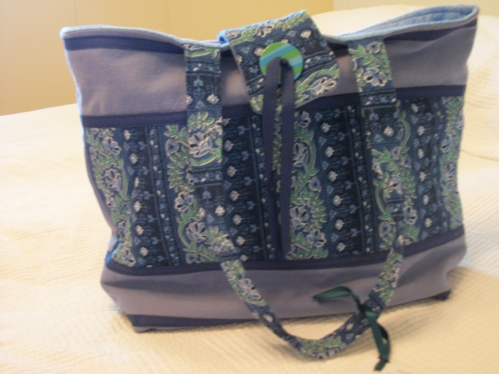 Anne Doody blue purse