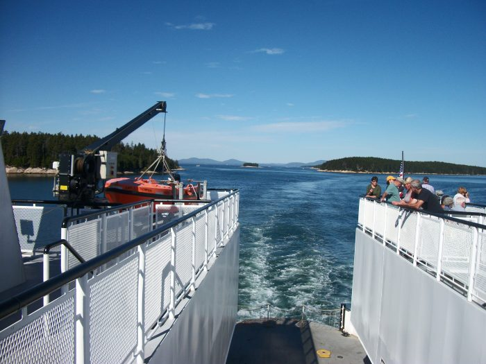 Vinalhaven ferry view going
